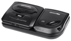 Sega CD Model 2 with Genesis Model 2, the most common setup