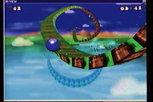 Screen capture from Sonic Xtreme