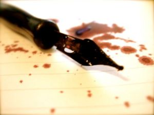 writing_blood